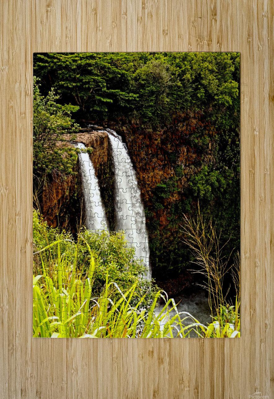 Kauai Waterfalls  HD Metal print with Floating Frame on Back