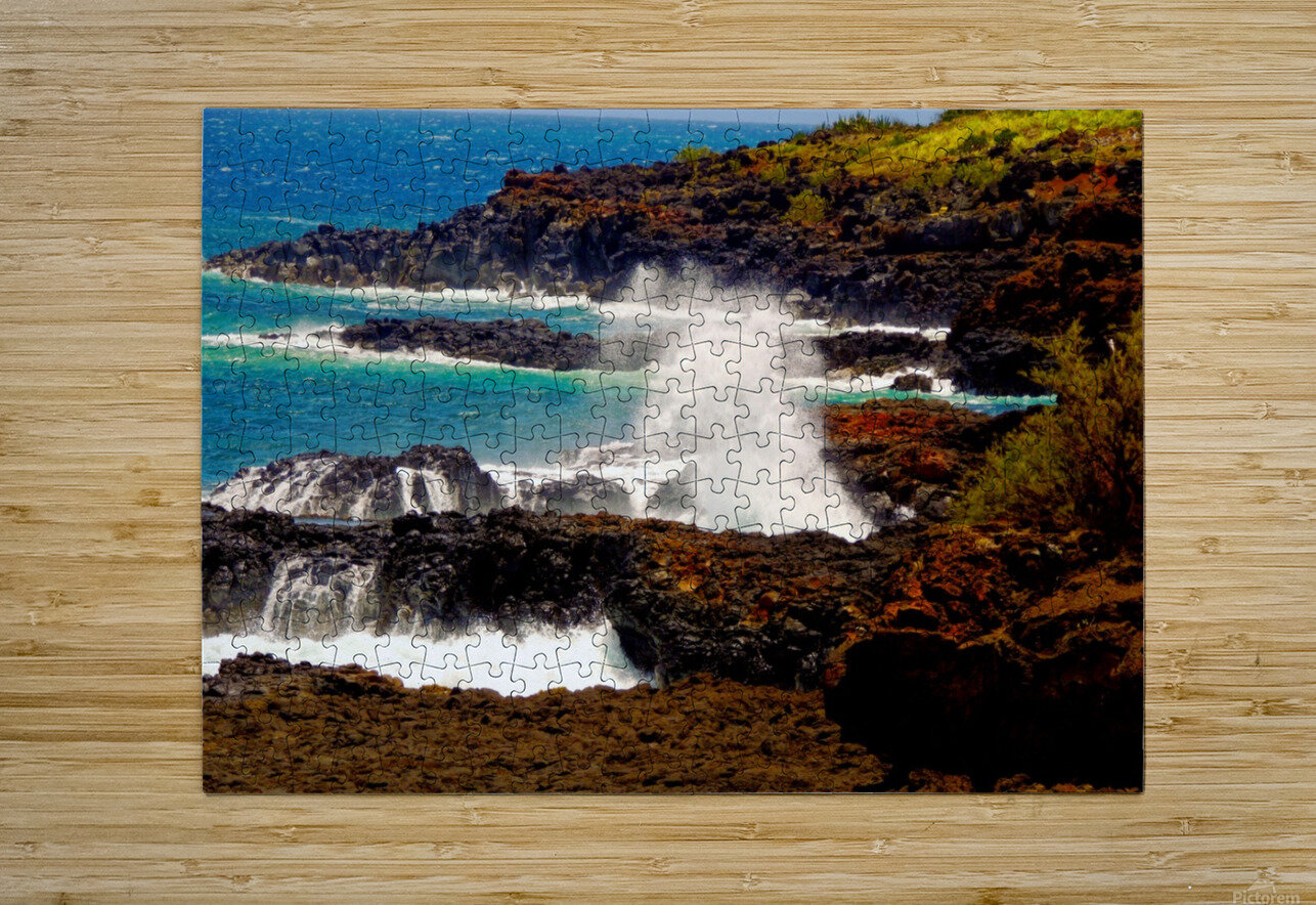 Rugged Kauai  HD Metal print with Floating Frame on Back