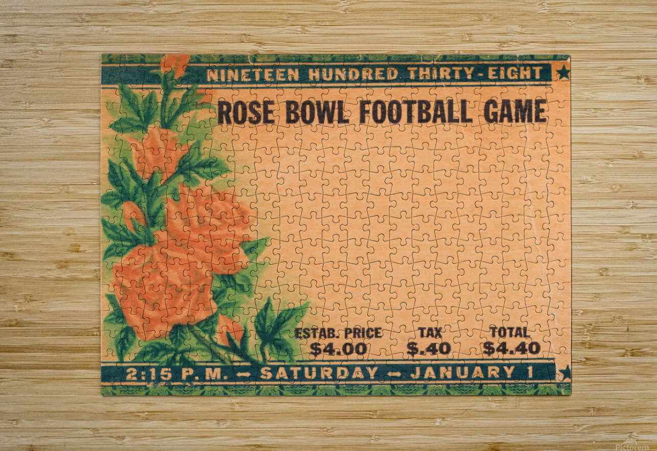 1938 Rose Bowl California Win  HD Metal print with Floating Frame on Back