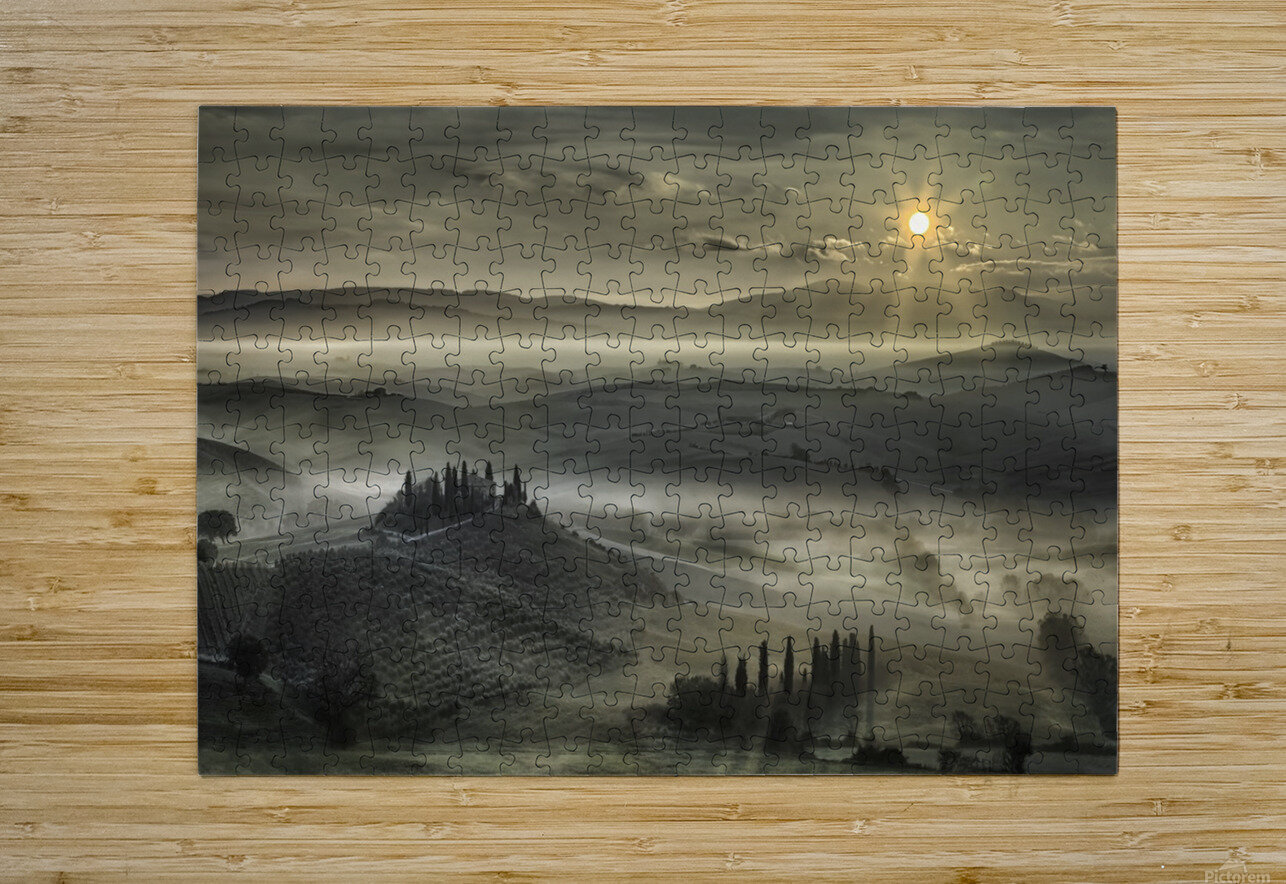 Tuscan Morning  HD Metal print with Floating Frame on Back