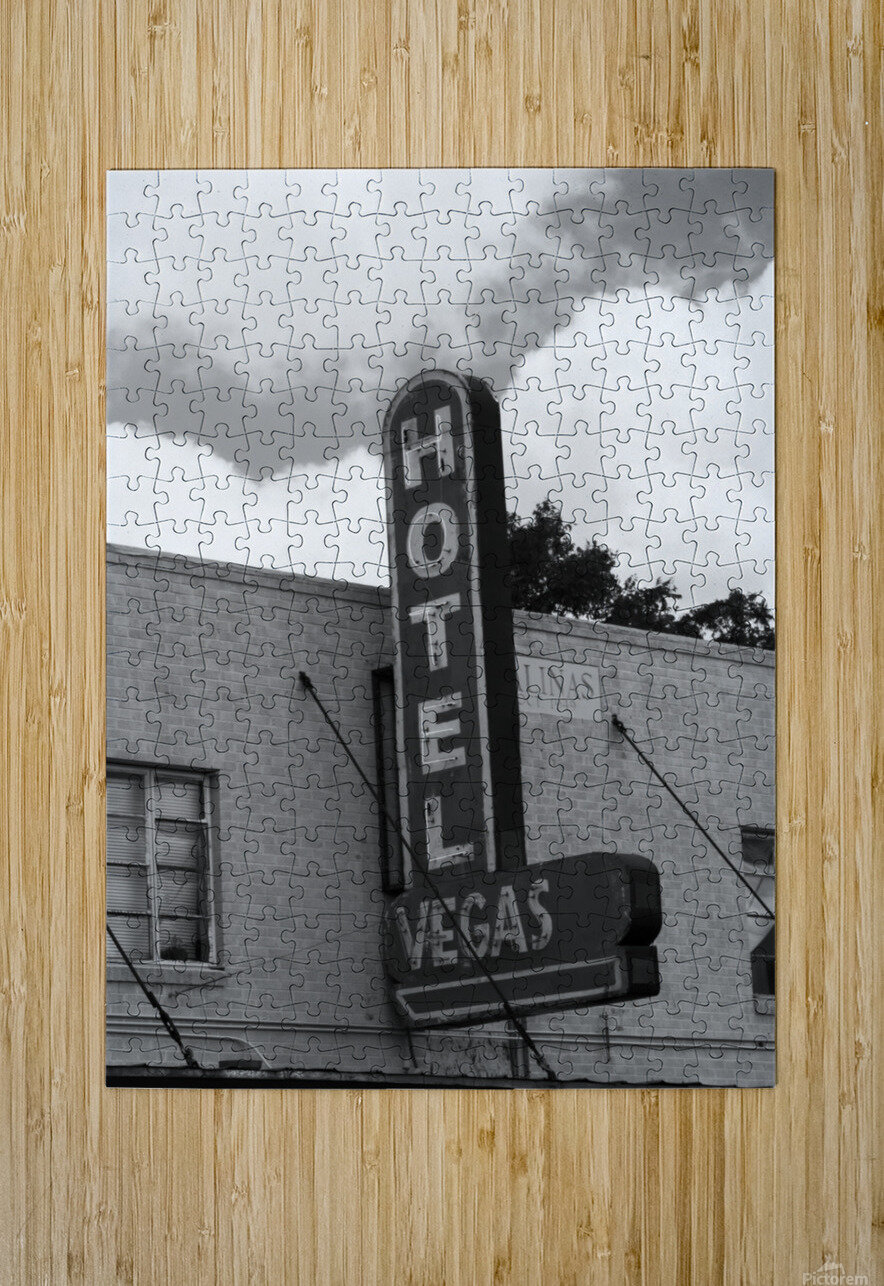 HOTEL VEGAS  HD Metal print with Floating Frame on Back