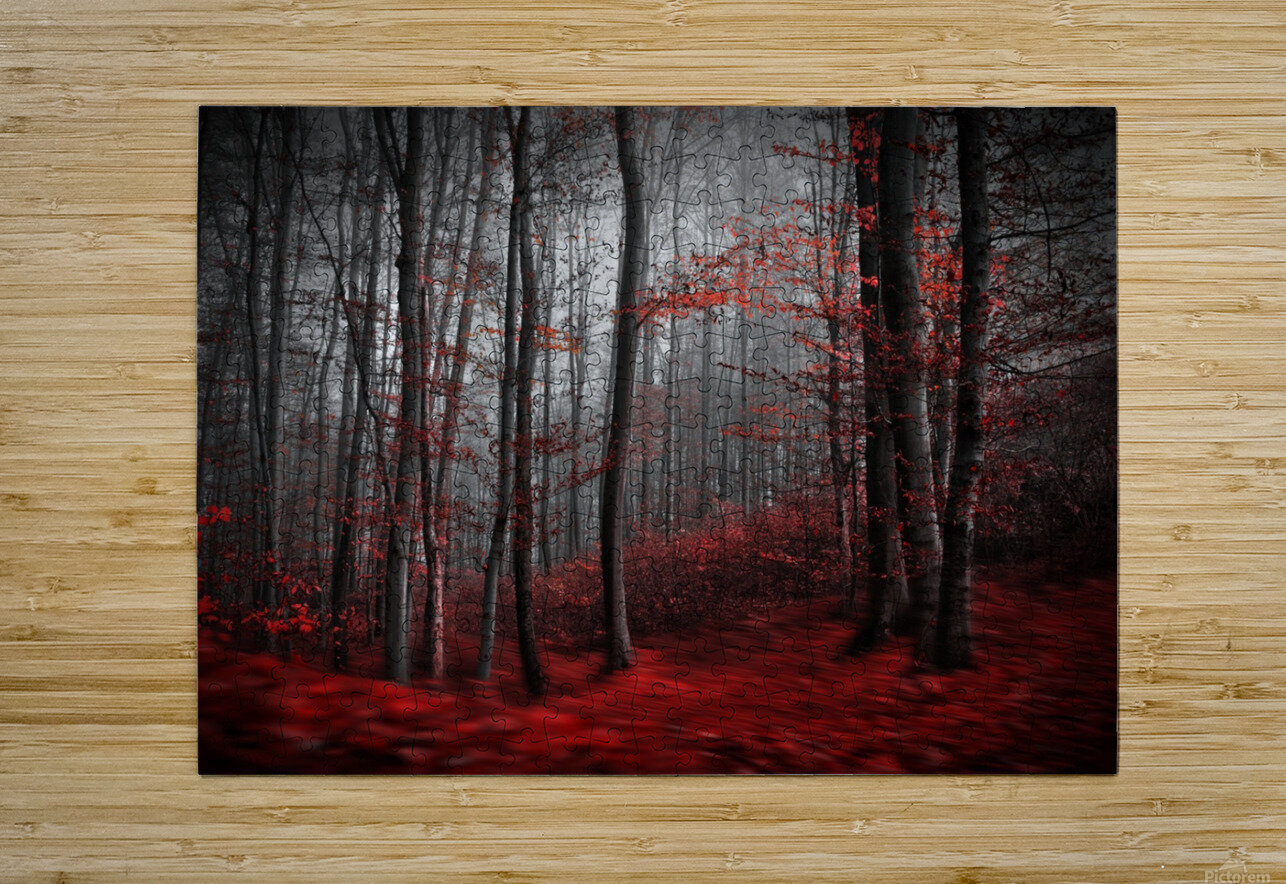 Bloody River  HD Metal print with Floating Frame on Back