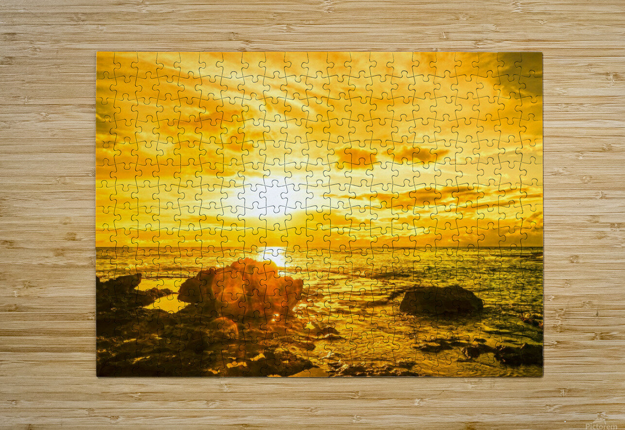 Majestic Sunset  HD Metal print with Floating Frame on Back