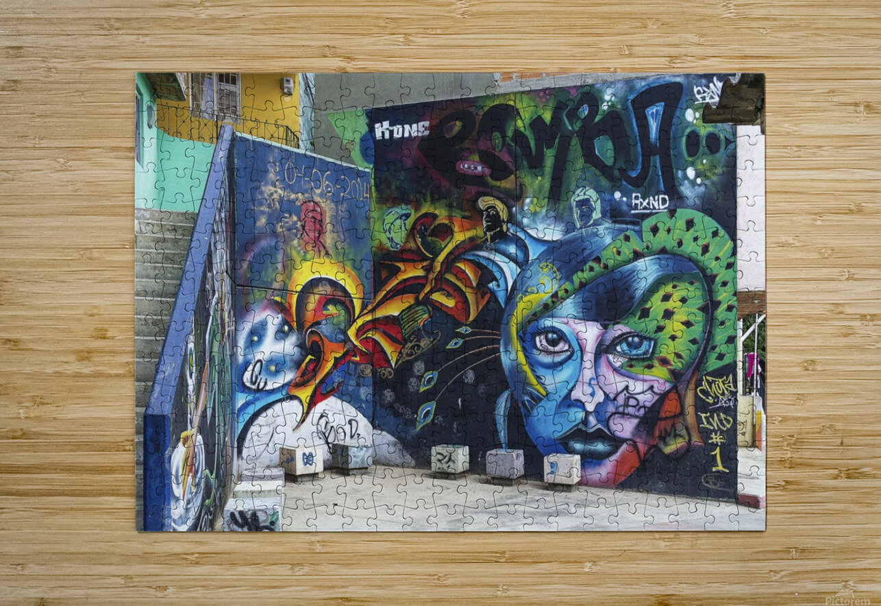 Background Graffiti  HD Metal print with Floating Frame on Back