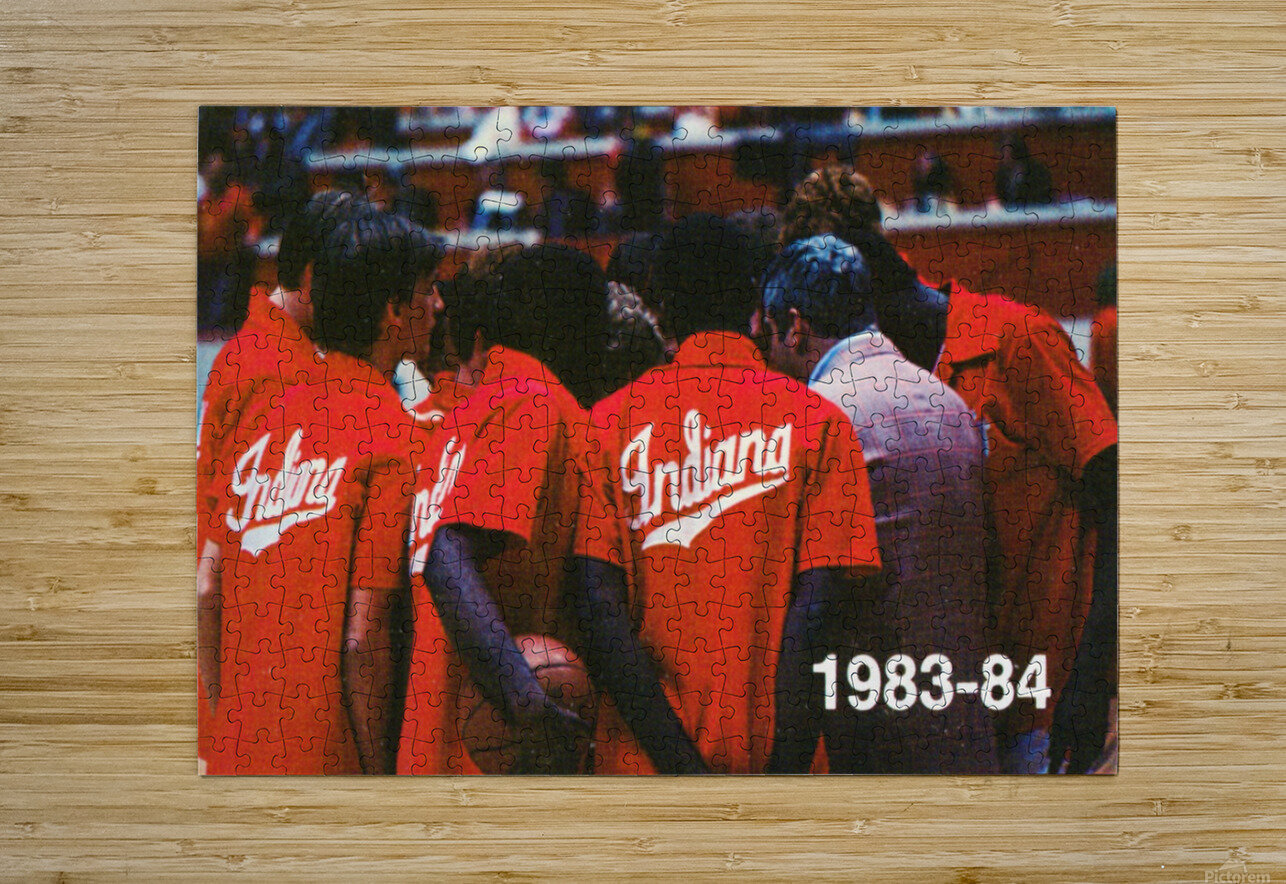 1983 Indiana Basketball Art  HD Metal print with Floating Frame on Back