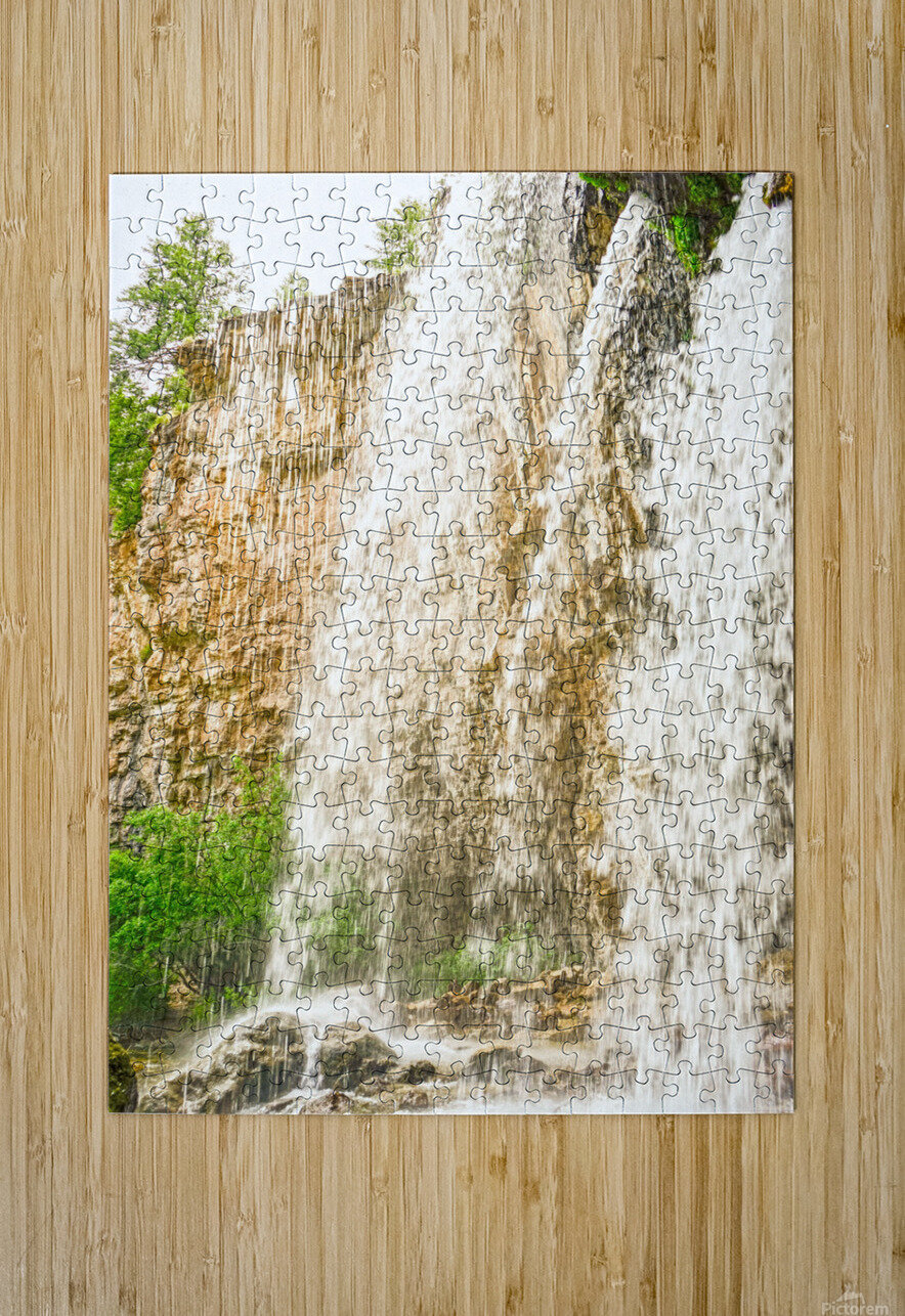 Rocky Mountain Rapids and Waterfalls 3 of 8  HD Metal print with Floating Frame on Back