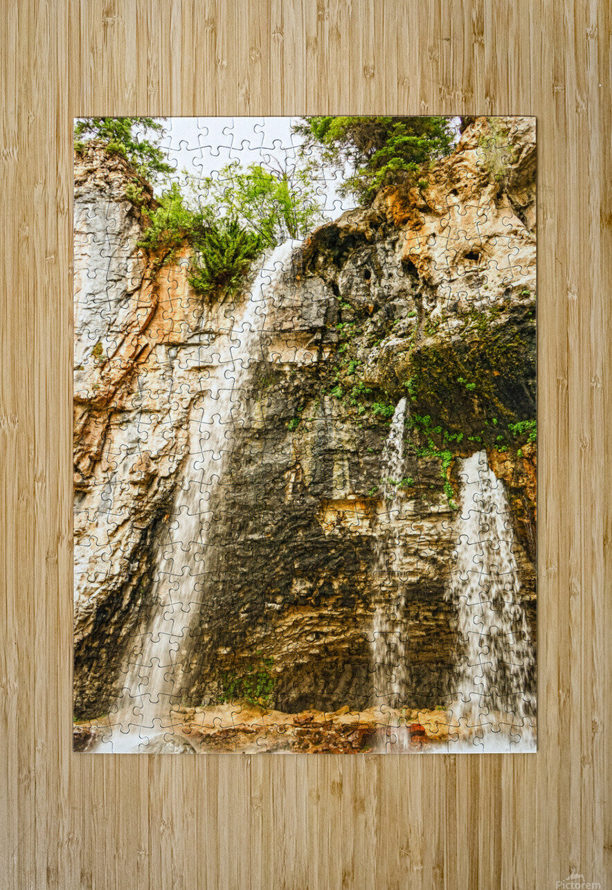 Rocky Mountain Rapids and Waterfalls 8 of 8  HD Metal print with Floating Frame on Back