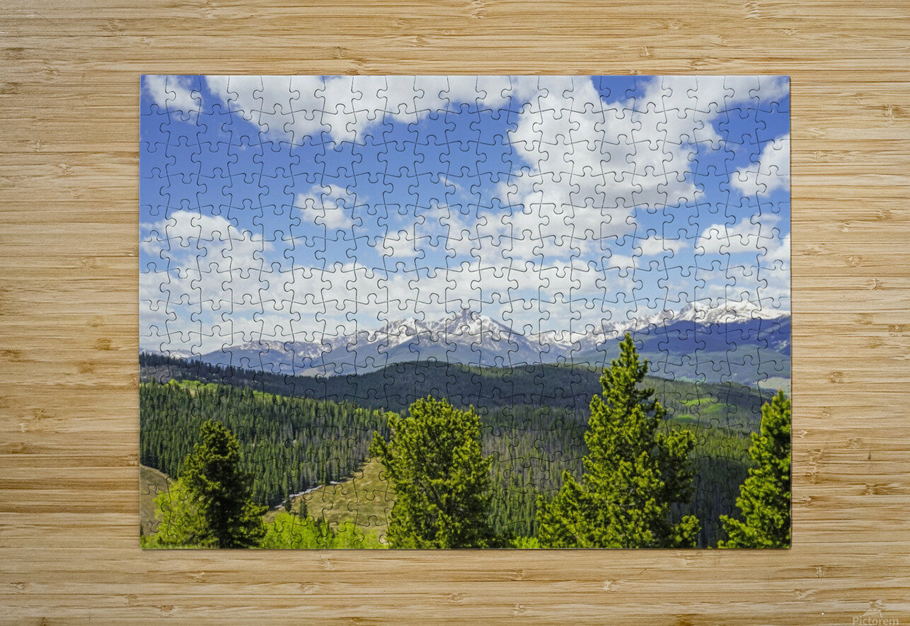 Back Country Colorado 1 of 8  HD Metal print with Floating Frame on Back