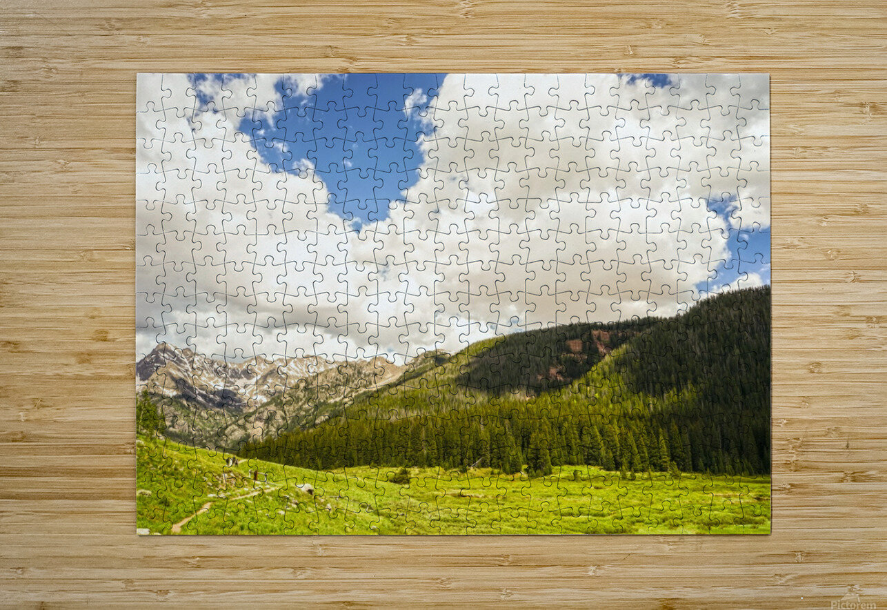 Back Country Colorado 3 of 8  HD Metal print with Floating Frame on Back