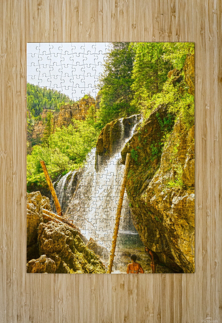 Waterfall Country Colorado 4 of 4  HD Metal print with Floating Frame on Back