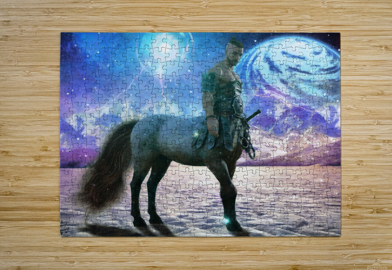 The Winter Warden  HD Metal print with Floating Frame on Back