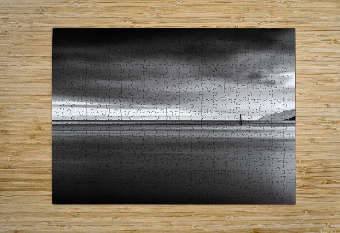 Calming Seas  HD Metal print with Floating Frame on Back