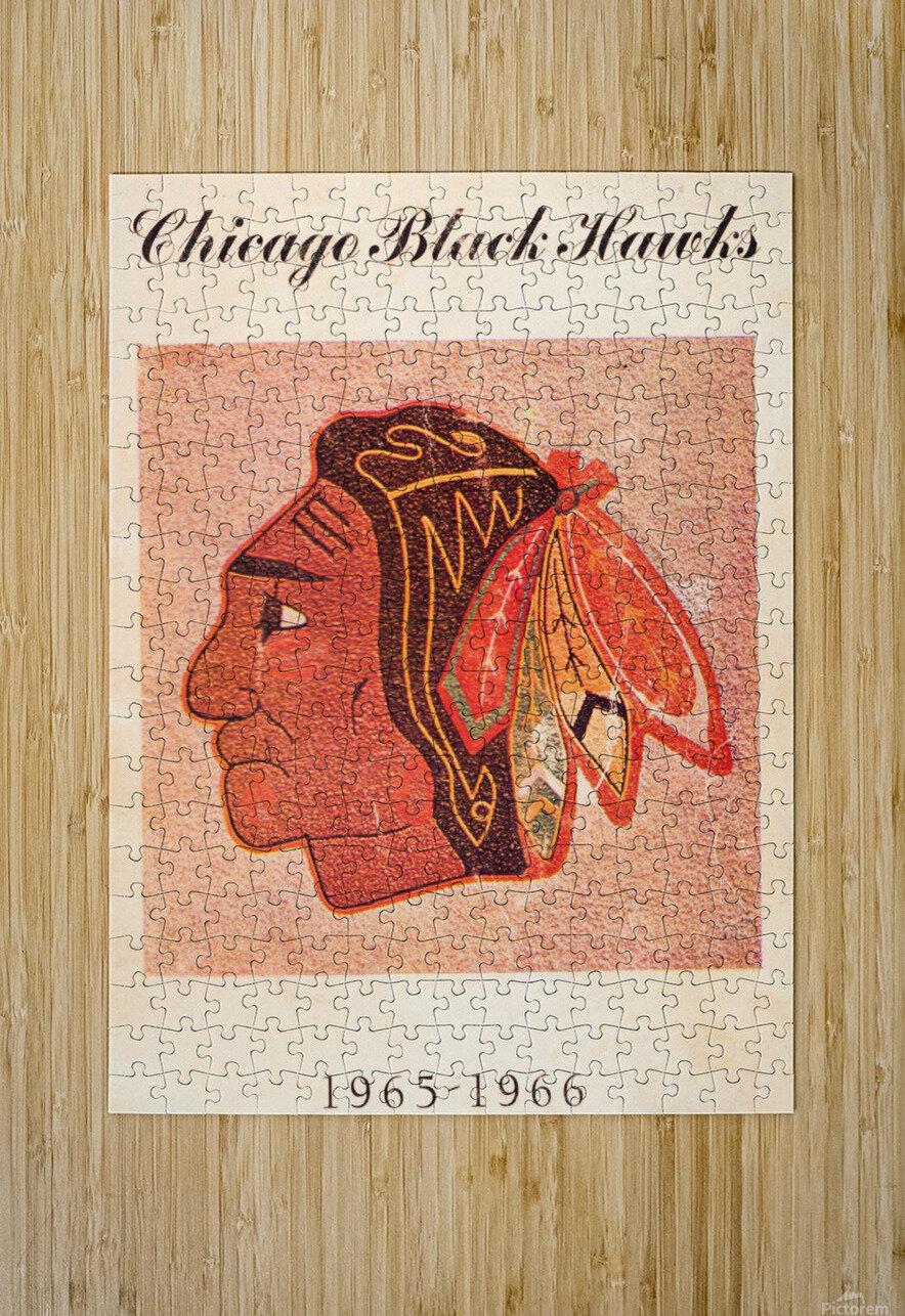 1965 Chicago Black Hawks Art  HD Metal print with Floating Frame on Back