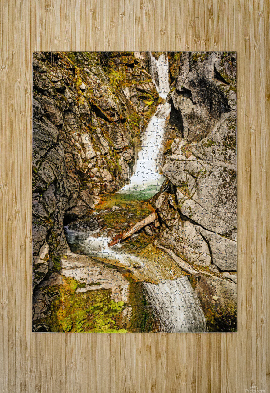 Cascading Falls  HD Metal print with Floating Frame on Back