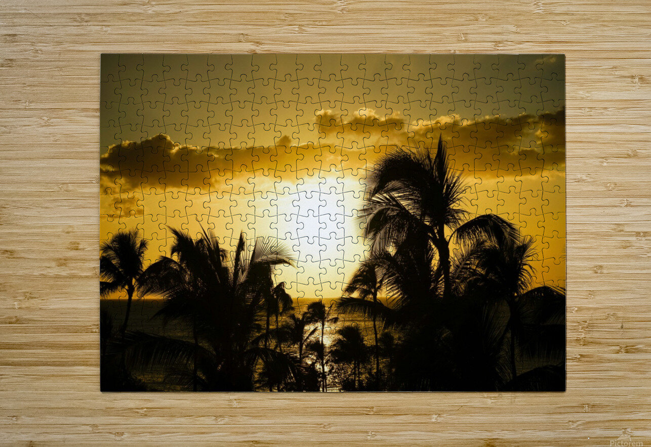 Radiant Hawaii  HD Metal print with Floating Frame on Back