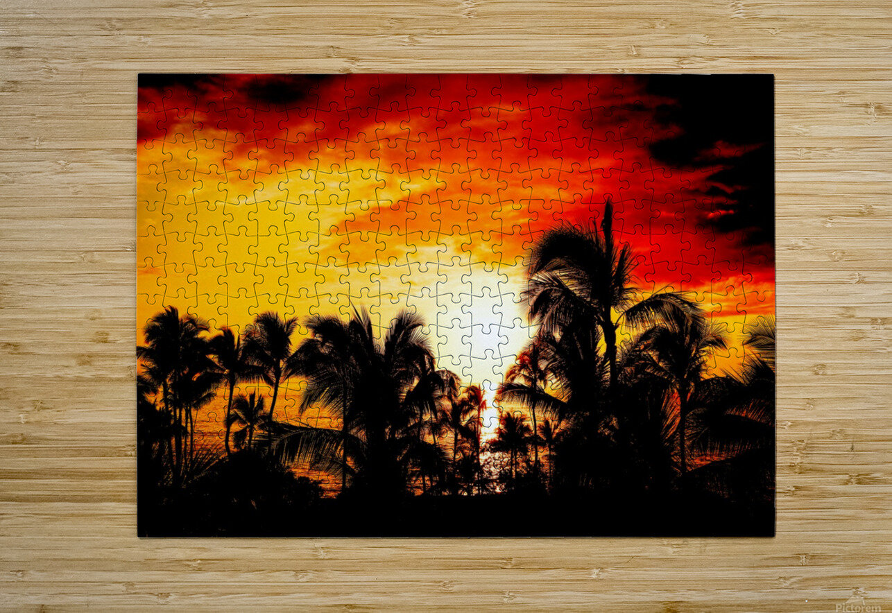 Fire in the Heavens  HD Metal print with Floating Frame on Back