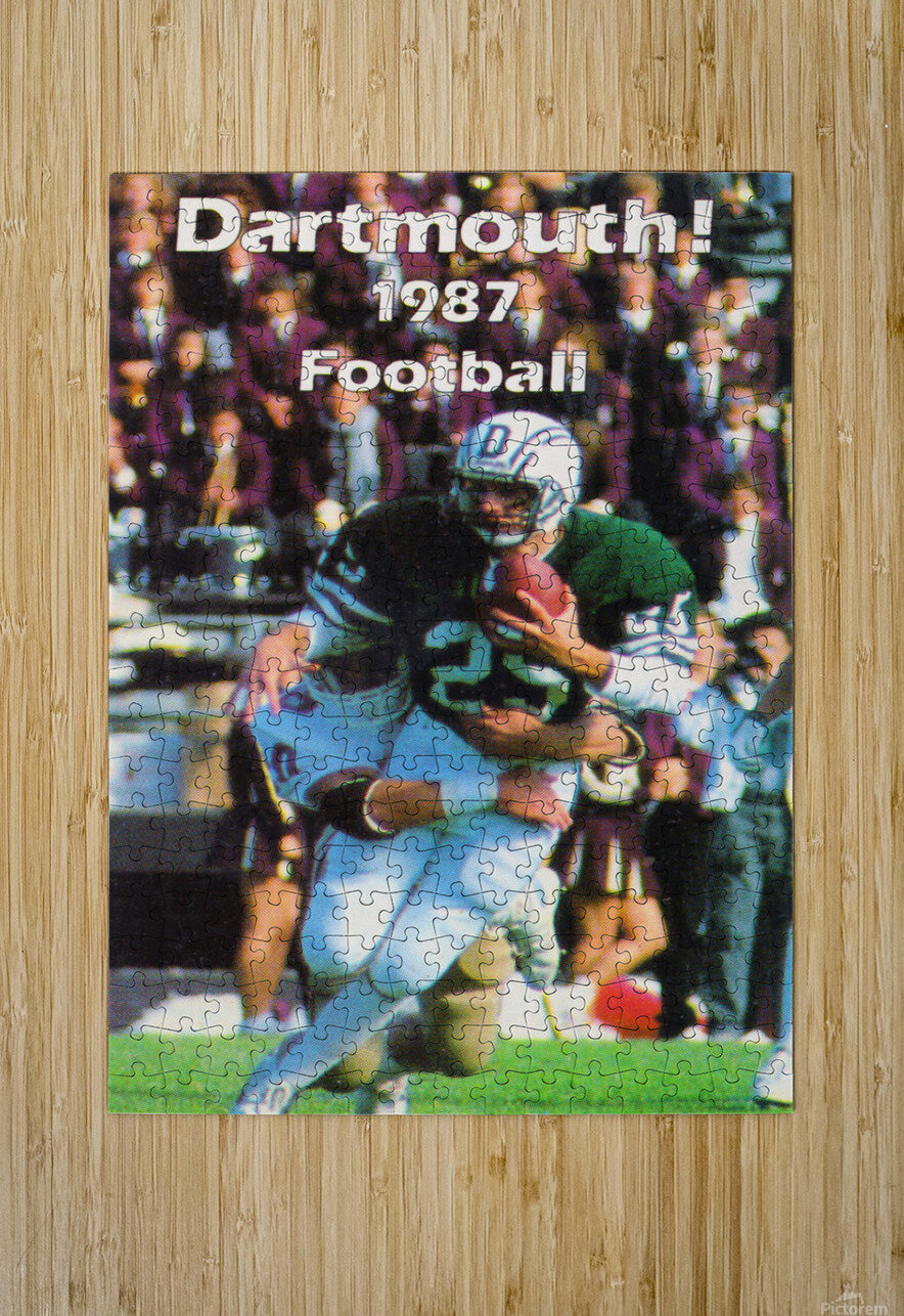 1987 Dartmouth Big Green Football Poster  HD Metal print with Floating Frame on Back