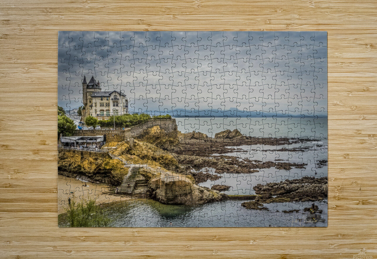 Biarritz  HD Metal print with Floating Frame on Back