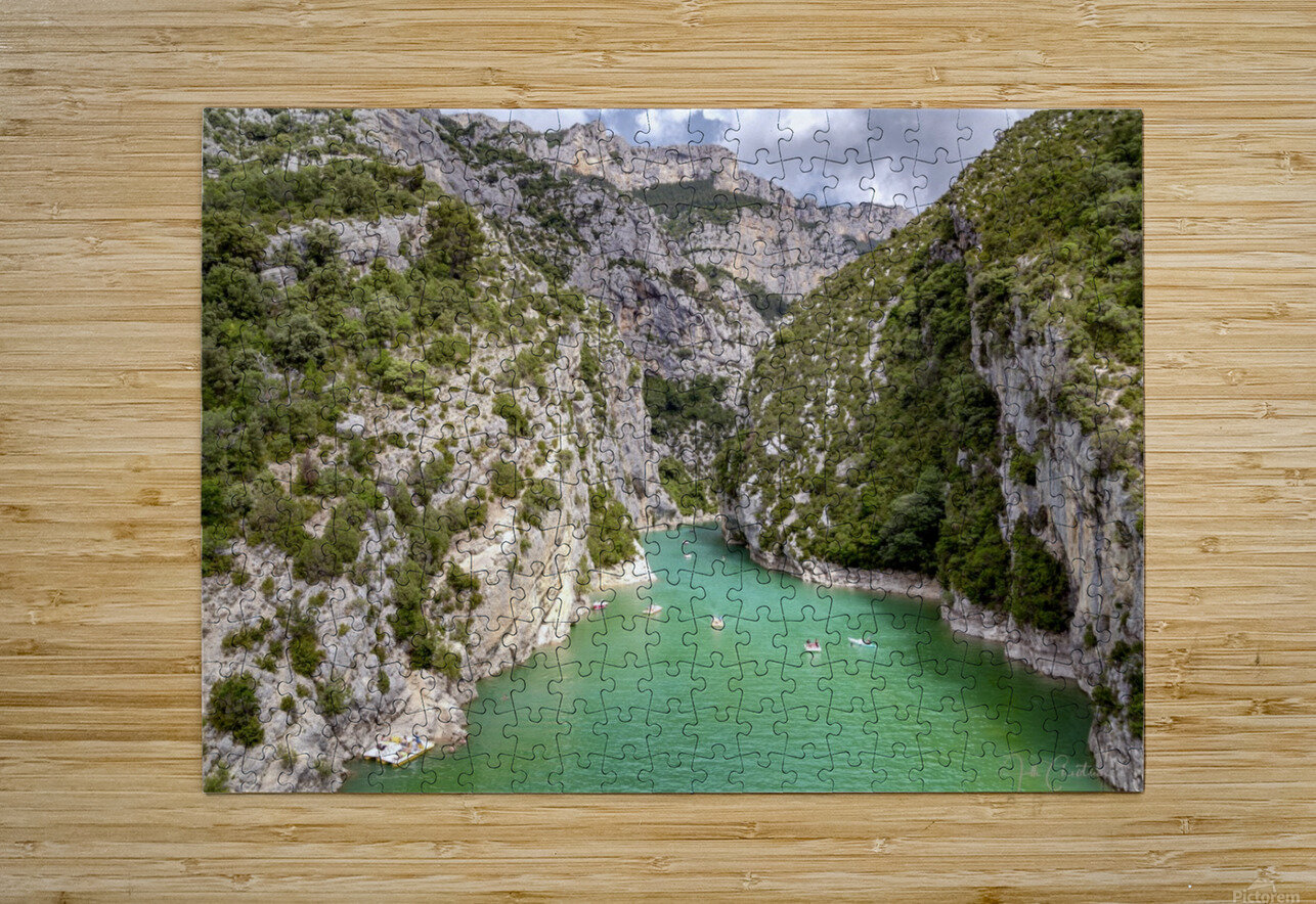 Les Gorges du Verdon  HD Metal print with Floating Frame on Back