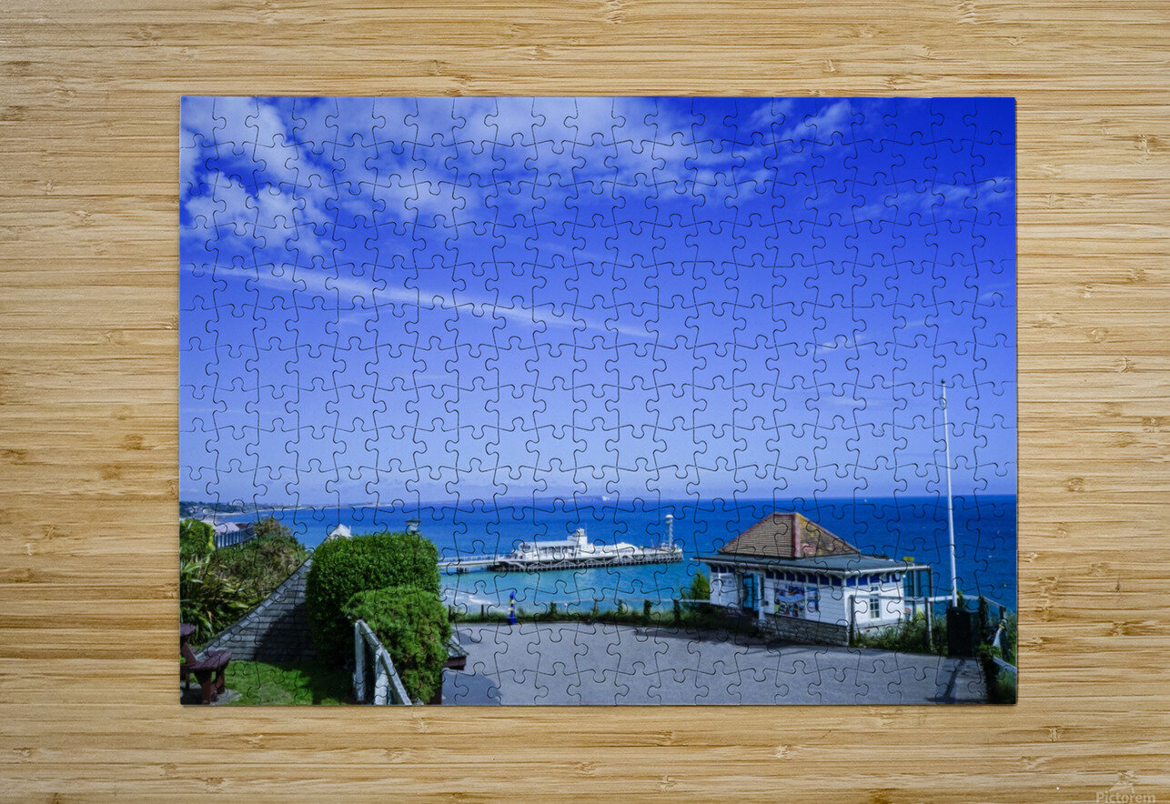 English Seaside Bournemouth  HD Metal print with Floating Frame on Back