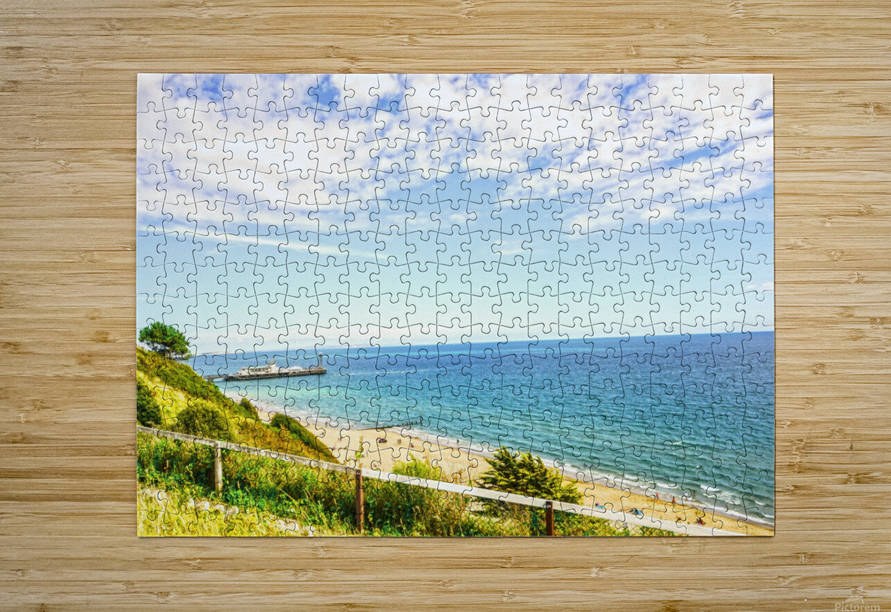 The Southern Coast of England  HD Metal print with Floating Frame on Back