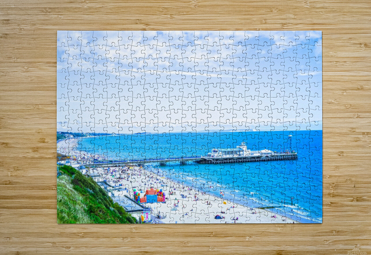 Snaphot in Time Bournemouth  HD Metal print with Floating Frame on Back