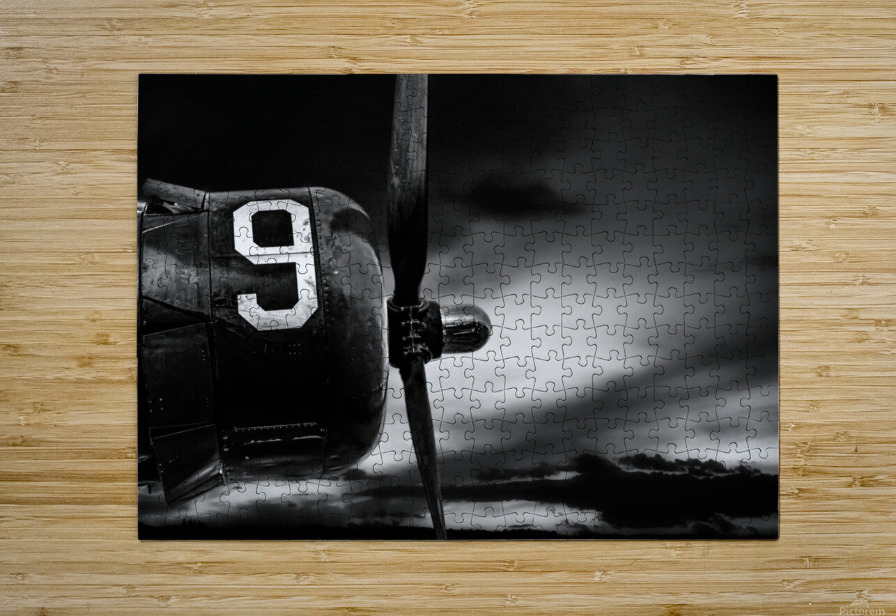 Number 9 Consolidated B24  HD Metal print with Floating Frame on Back