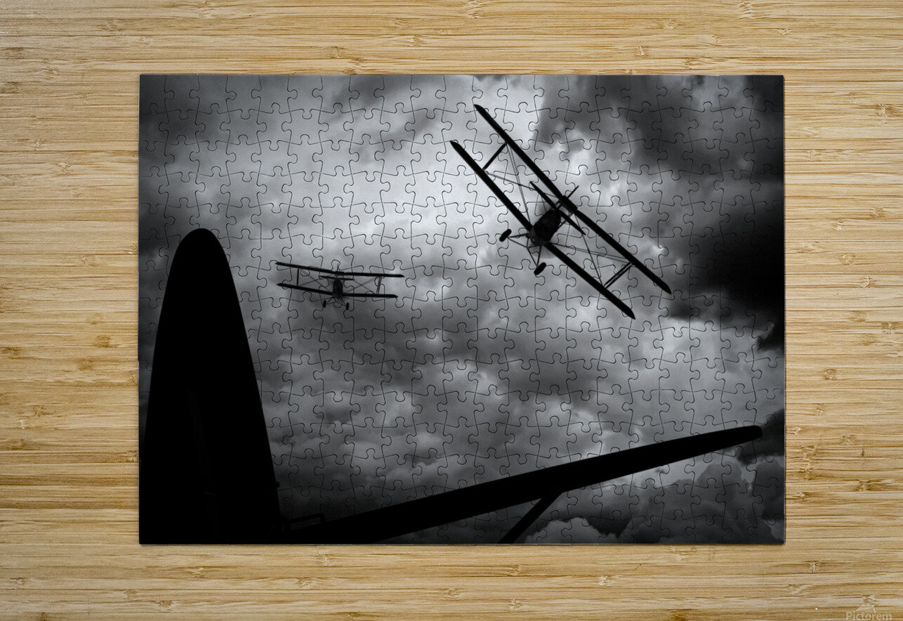 Air Pursuit   HD Metal print with Floating Frame on Back