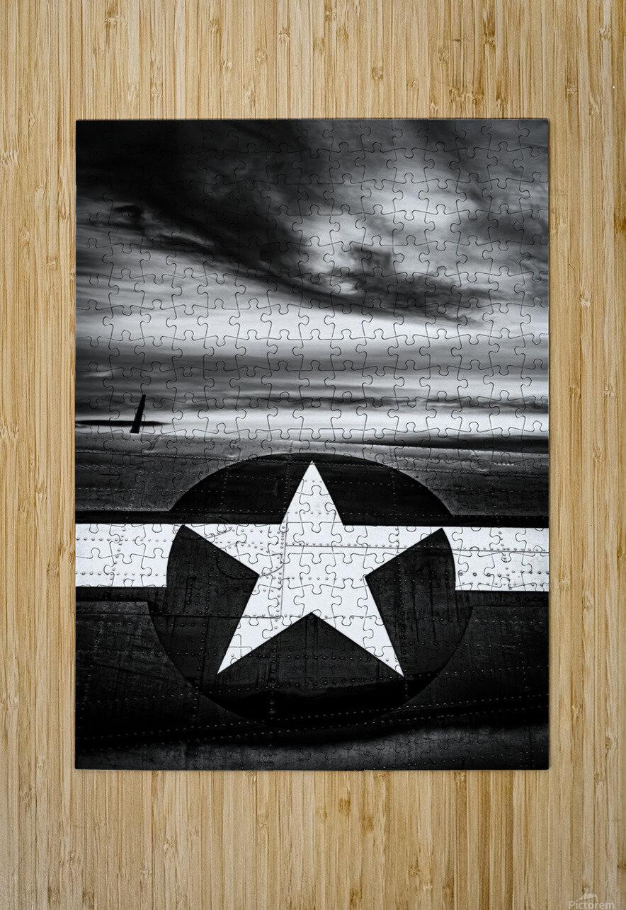 Vintage Fuselage  HD Metal print with Floating Frame on Back