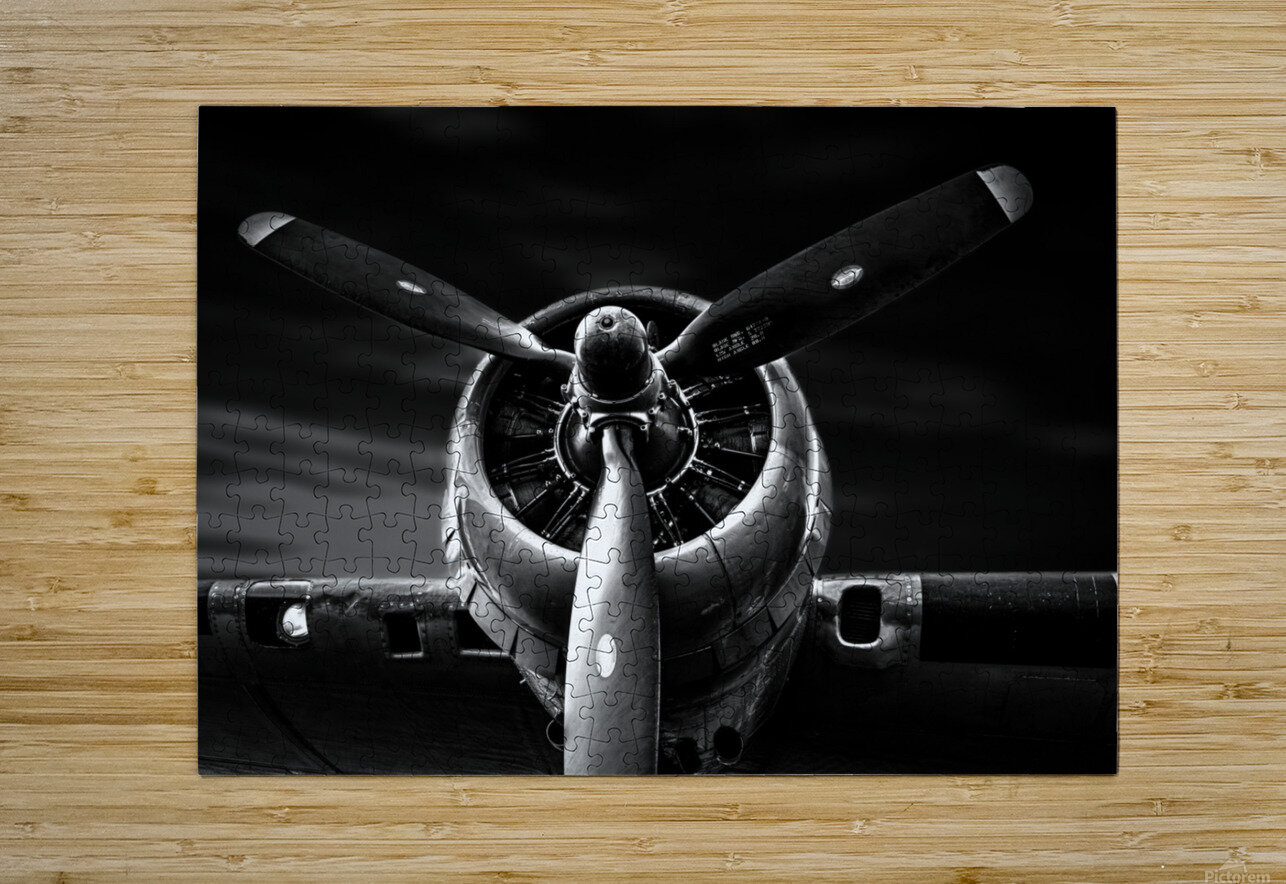 Wright Cyclone Boeing B17  HD Metal print with Floating Frame on Back
