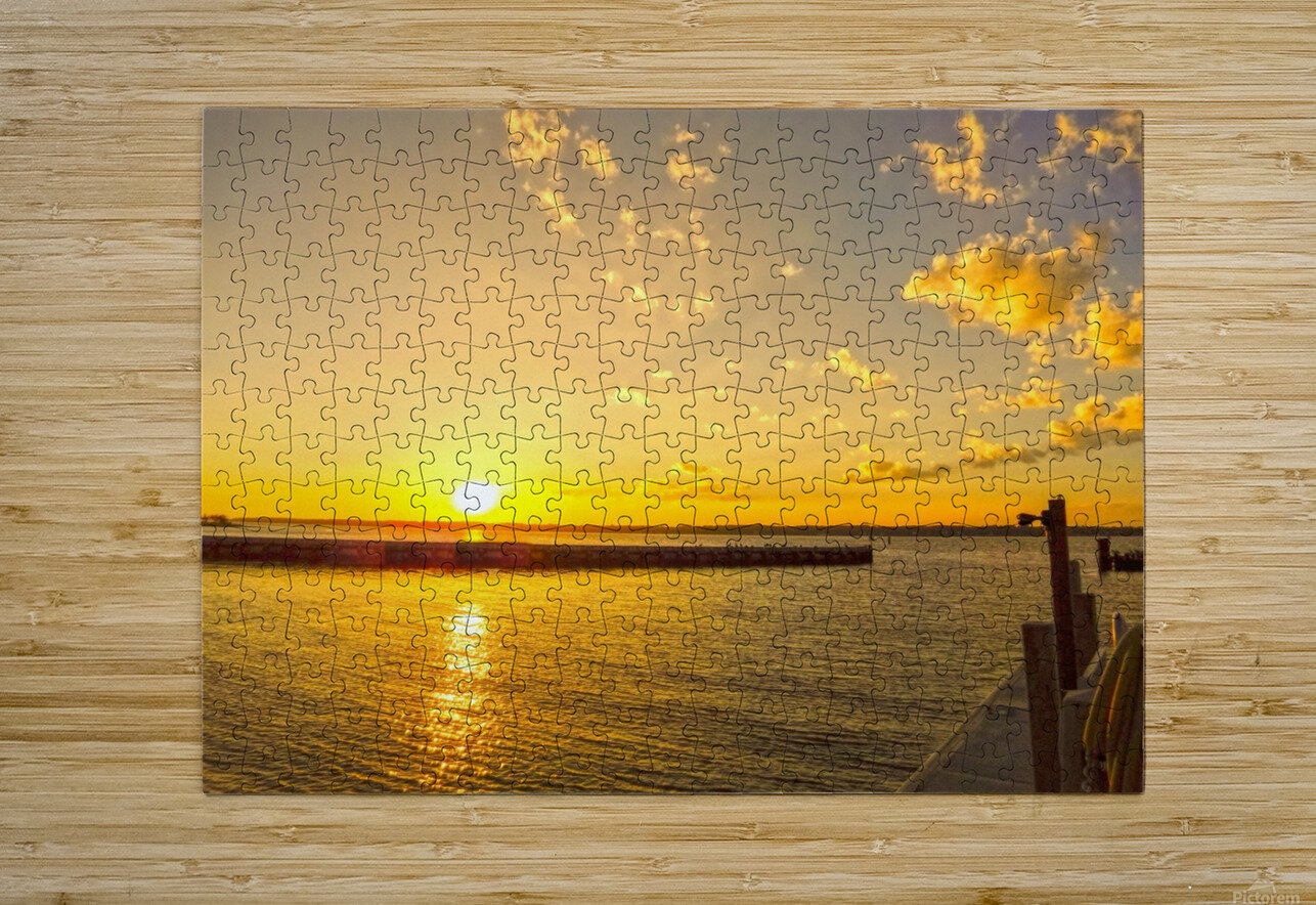 Low Country Sunset South Carolina  HD Metal print with Floating Frame on Back