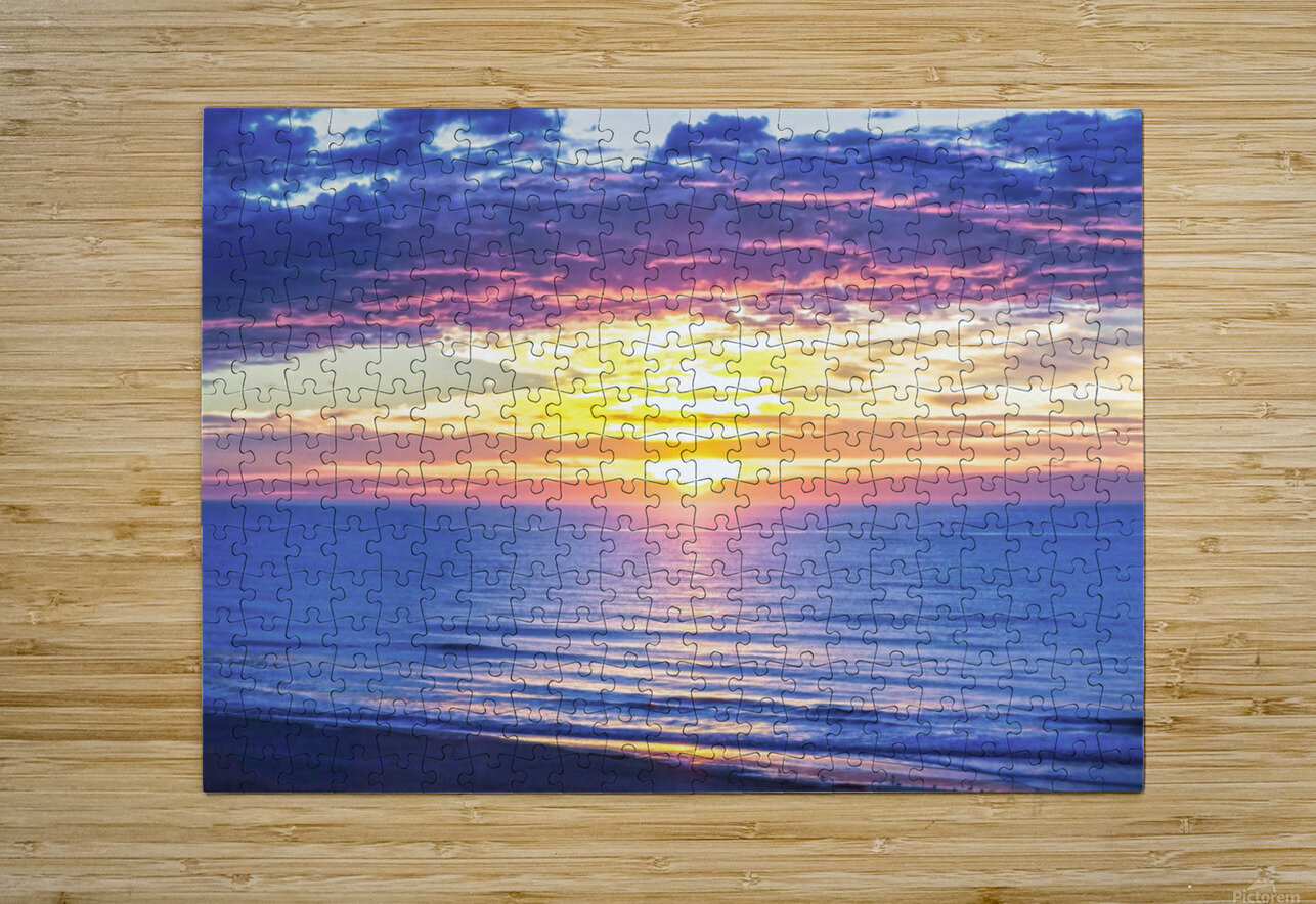 Sunrise over the Atlantic  HD Metal print with Floating Frame on Back