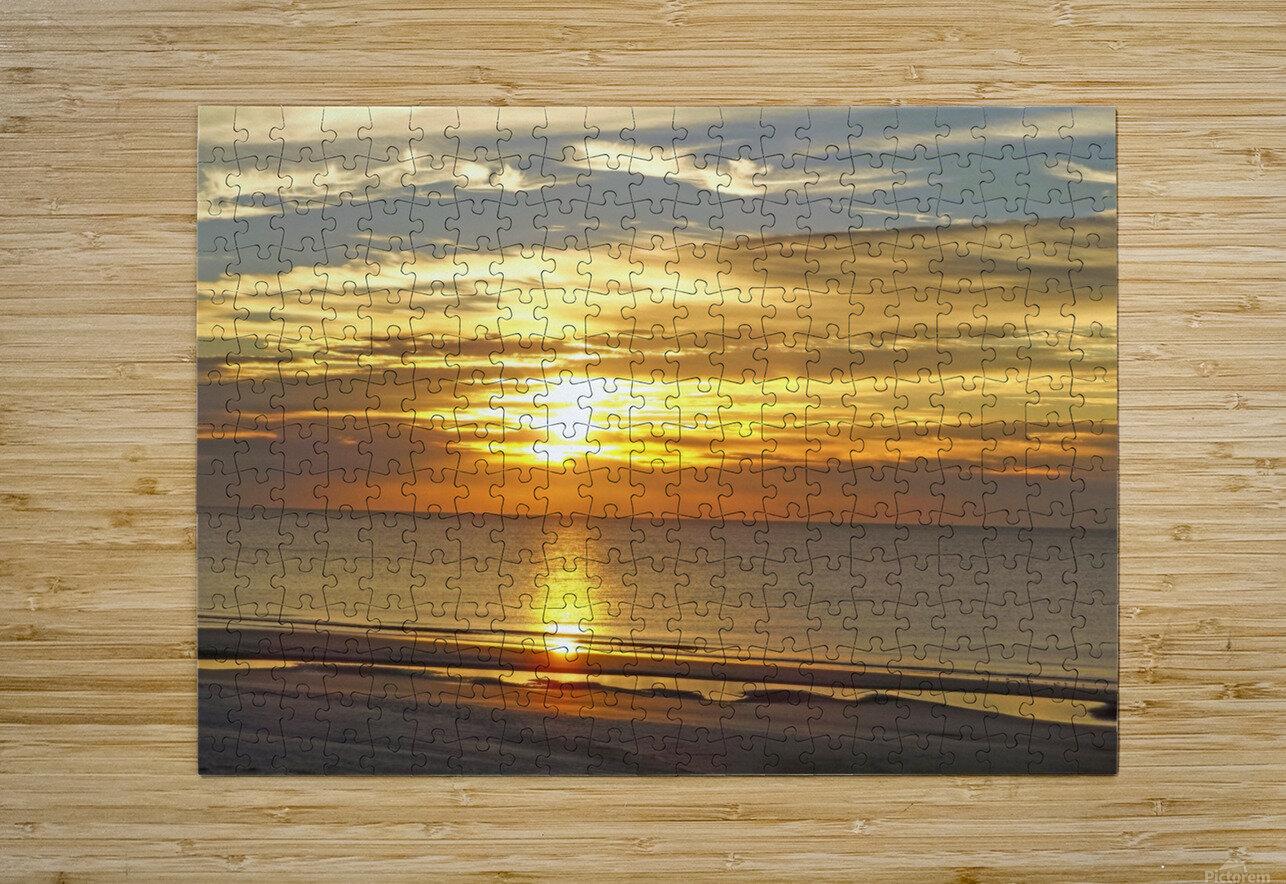 Carolina Sunrise  HD Metal print with Floating Frame on Back