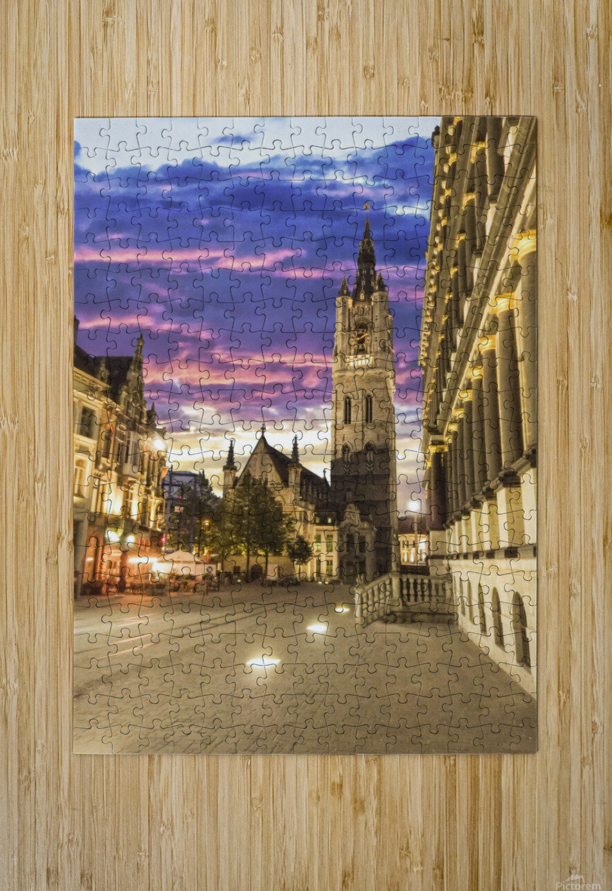 Sunset in Belgium  HD Metal print with Floating Frame on Back