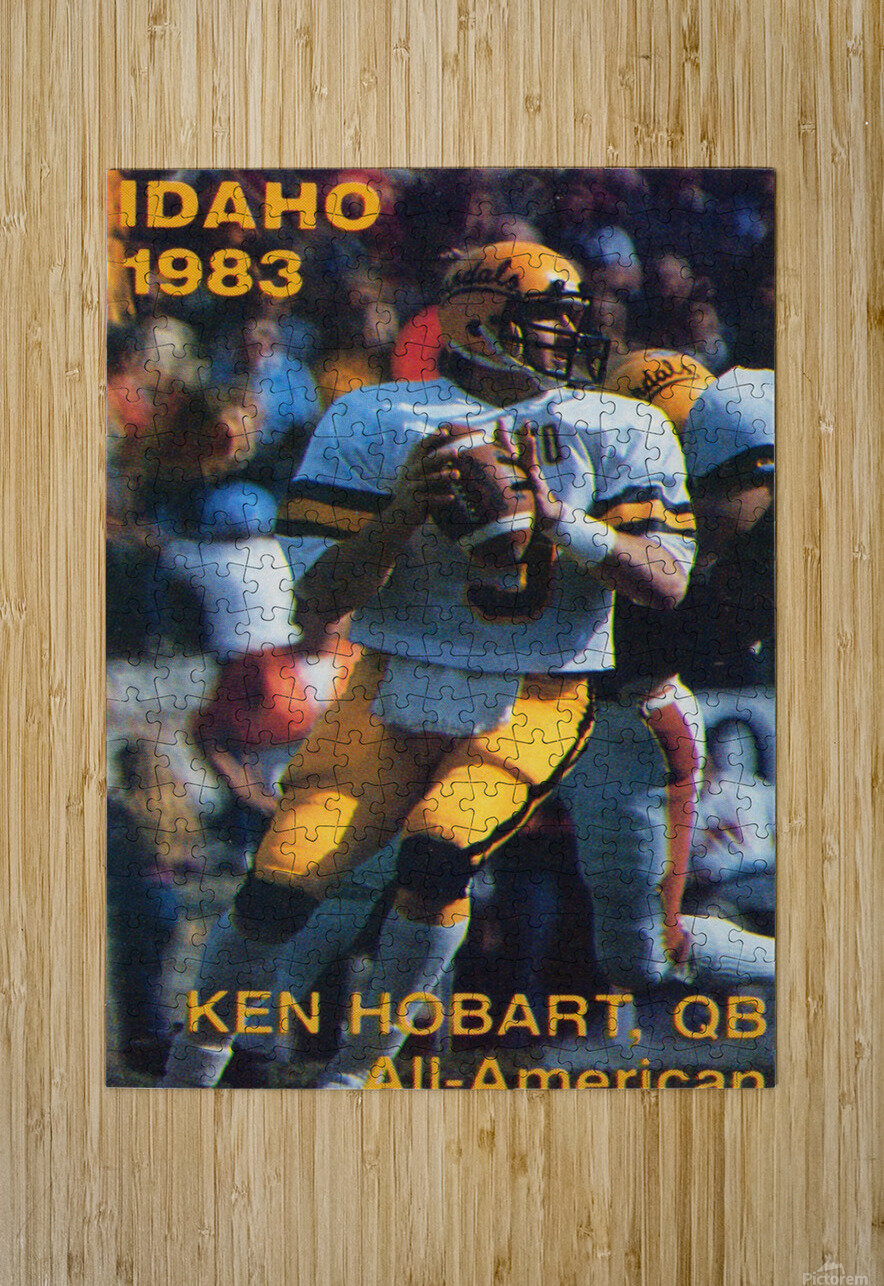 1983 Idaho Vandals Football Poster  HD Metal print with Floating Frame on Back