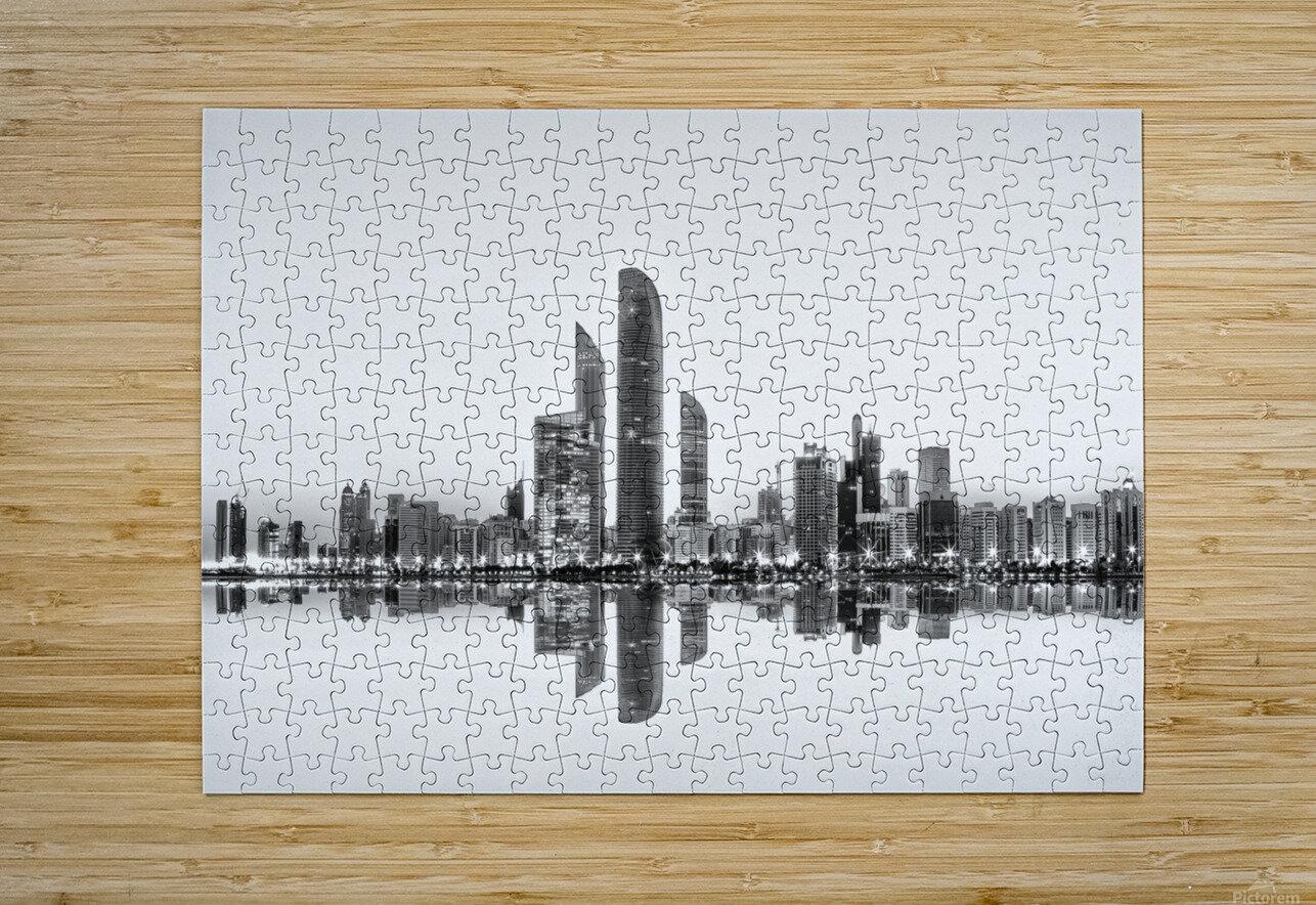 Abu Dhabi Urban Reflection  HD Metal print with Floating Frame on Back