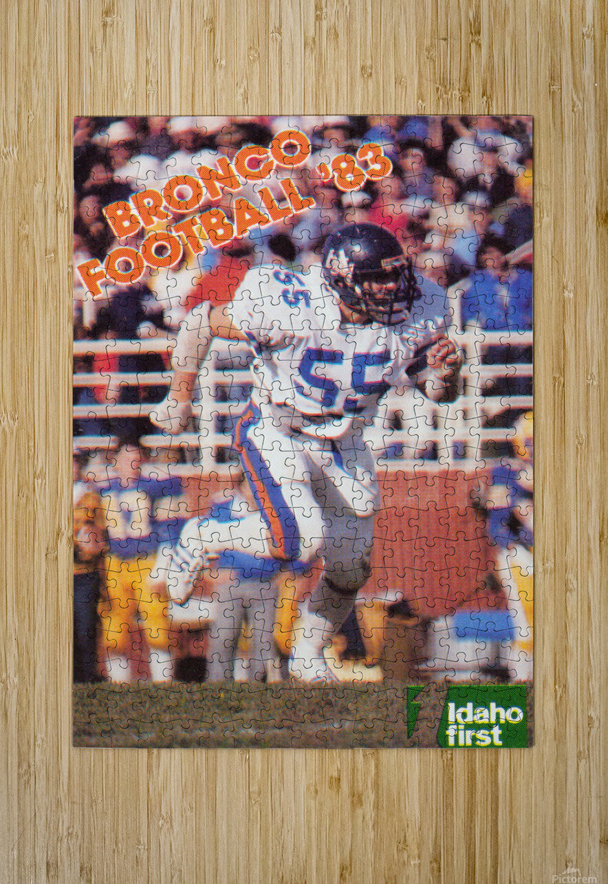 1983 Boise State Broncos Carl Keever Football Poster  HD Metal print with Floating Frame on Back