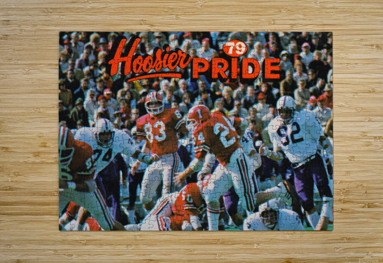 1979 Indiana Hoosiers Football Art  HD Metal print with Floating Frame on Back