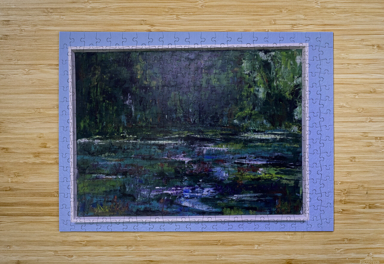 A swamp Concert  Acryl on Canvas 80x60  FRAMED   HD Metal print with Floating Frame on Back