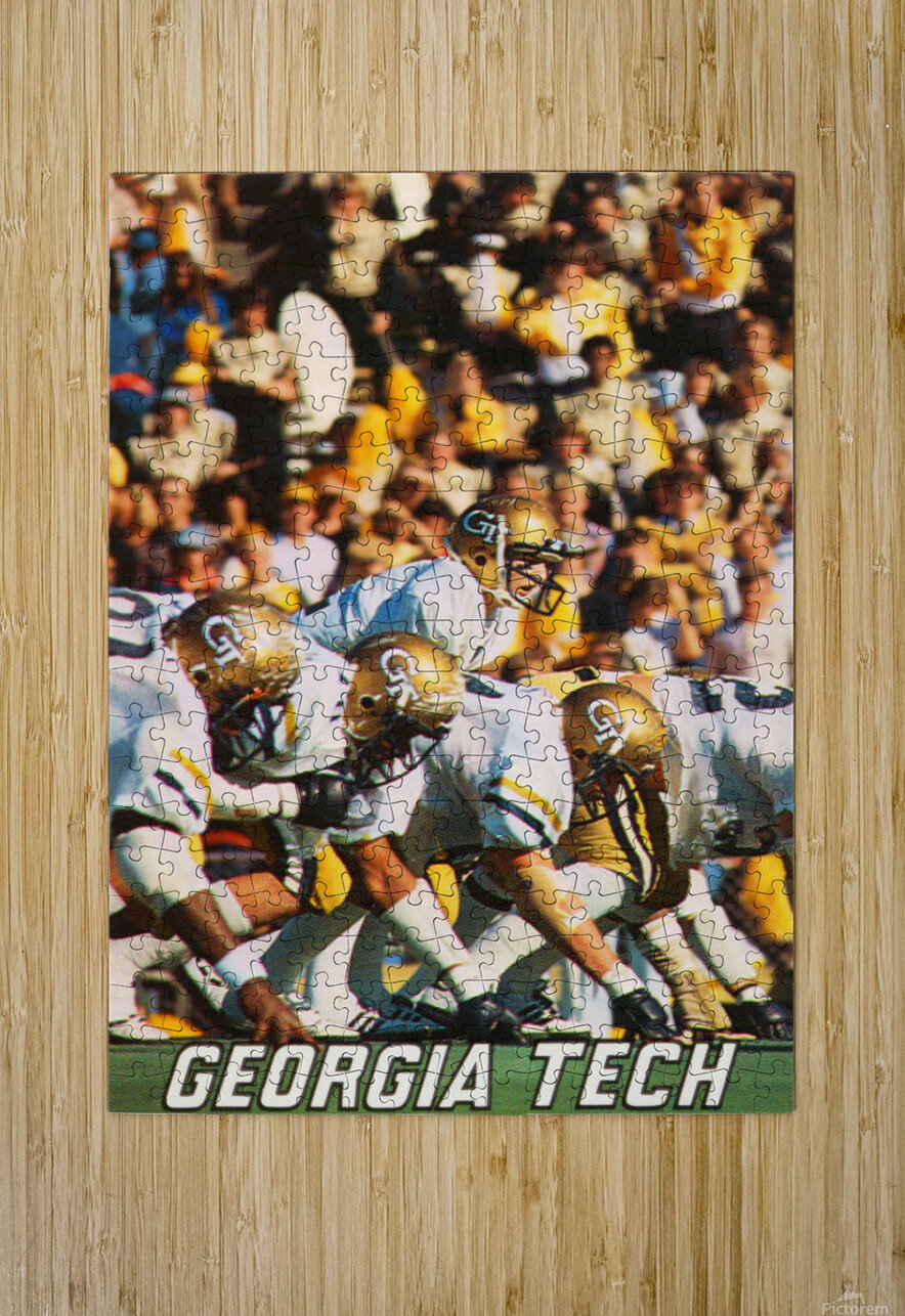 1979 Georgia Tech Football Art  HD Metal print with Floating Frame on Back