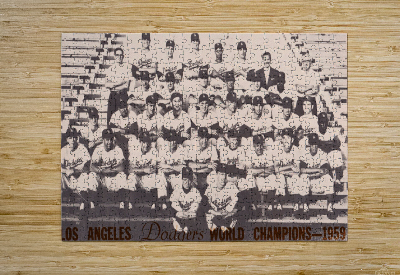 1959 Los Angeles Dodgers Team Photo  HD Metal print with Floating Frame on Back