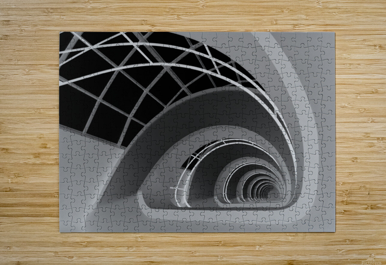 Antwerp-Stairs by jan niezen   HD Metal print with Floating Frame on Back