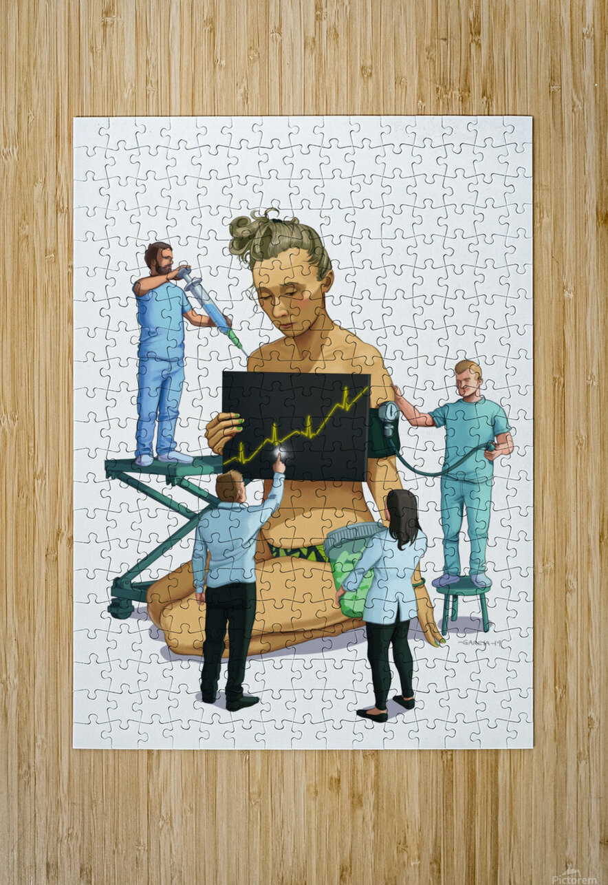 Healthcare is a Business  HD Metal print with Floating Frame on Back