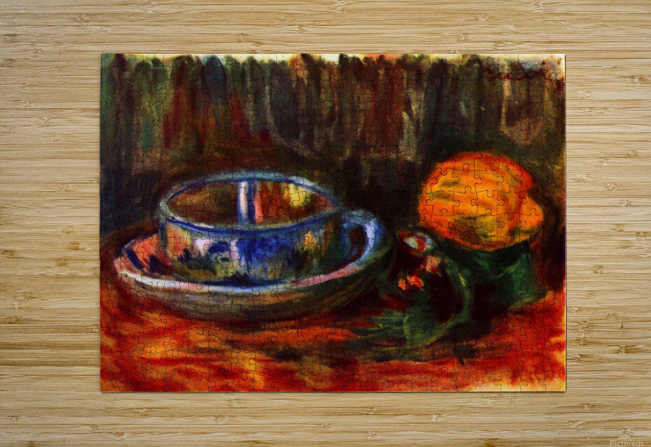 Still life with cup  HD Metal print with Floating Frame on Back
