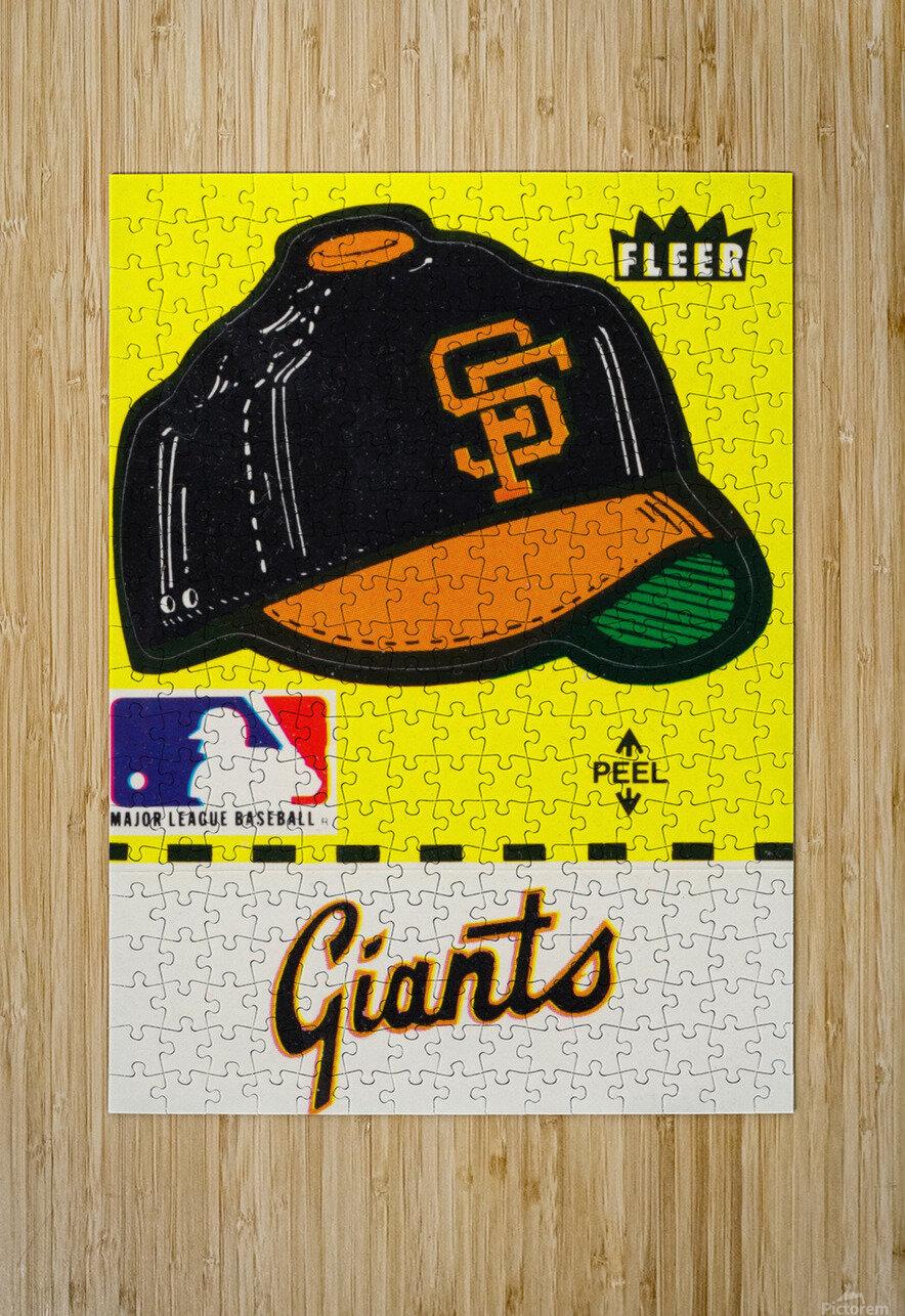 1981 San Francisco Giants Fleer Decal Poster  HD Metal print with Floating Frame on Back