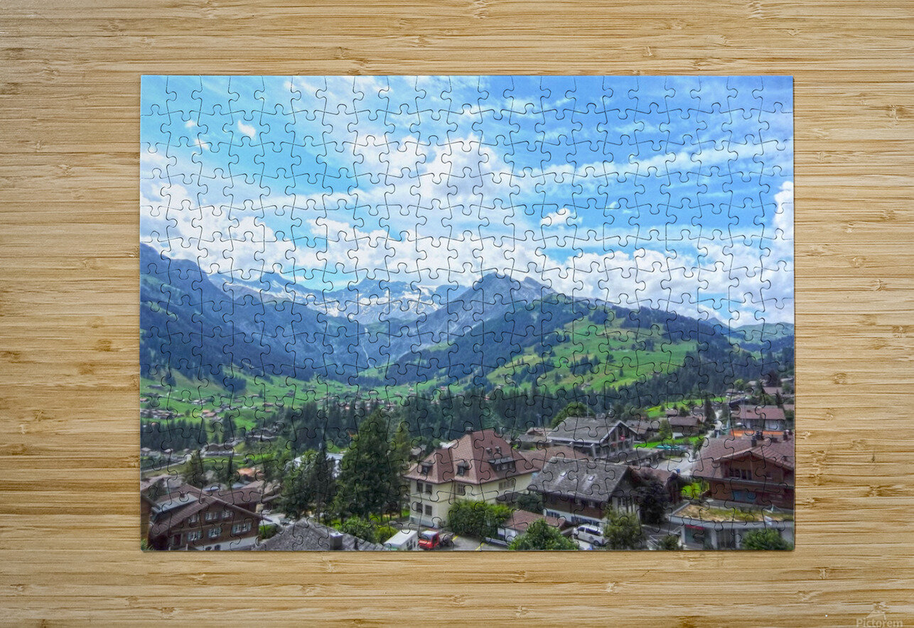 Beautiful Day in the Swiss Alps  HD Metal print with Floating Frame on Back