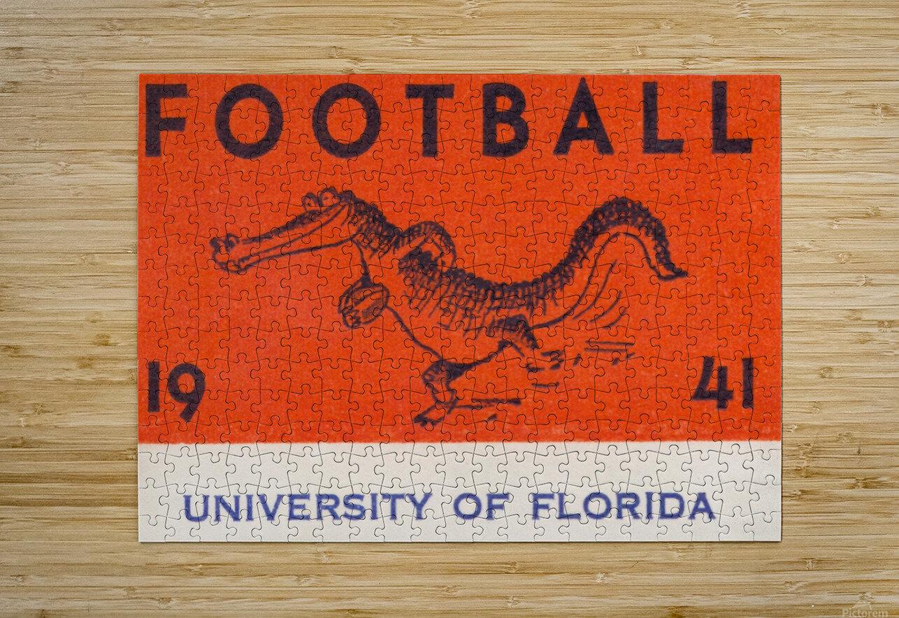 1941 Florida Gators Football  HD Metal print with Floating Frame on Back