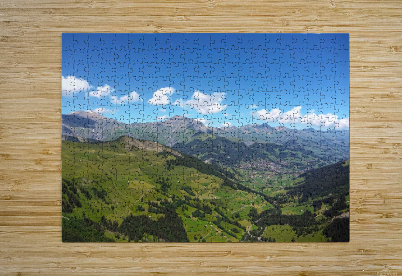 Swiss Highlands View to Forever  HD Metal print with Floating Frame on Back