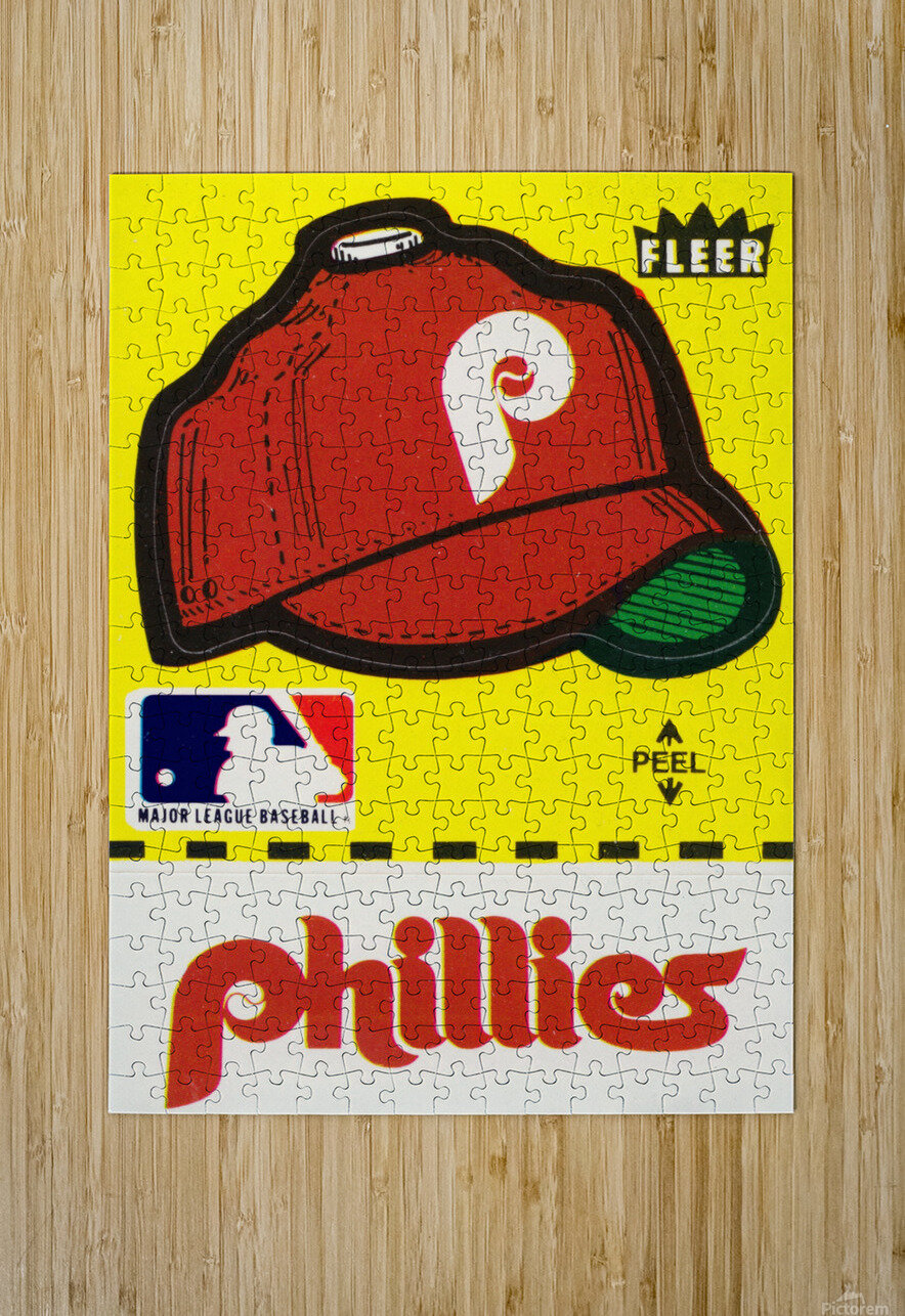 1981 Phillies Fleer Decal Wall Art  HD Metal print with Floating Frame on Back