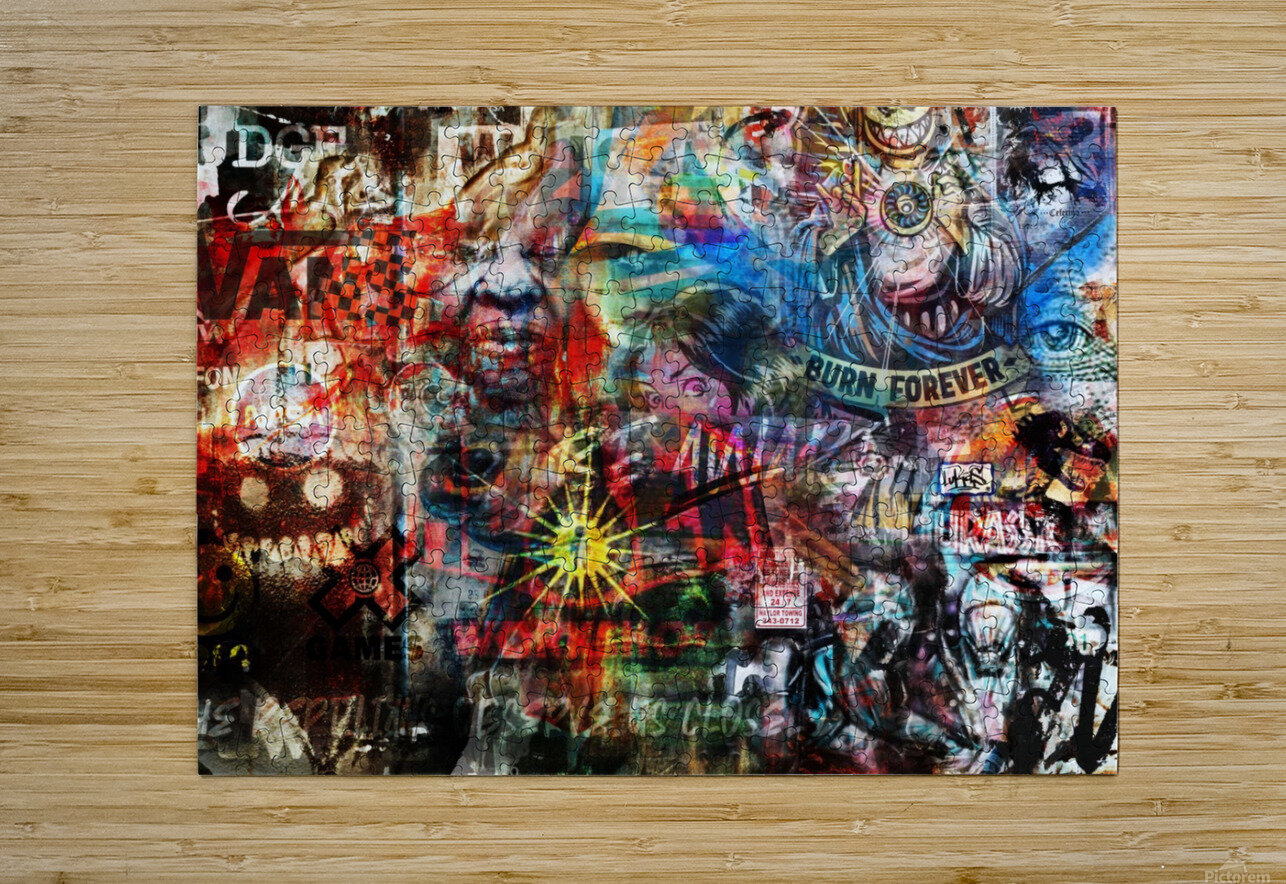 Street Art Reptilian    HD Metal print with Floating Frame on Back